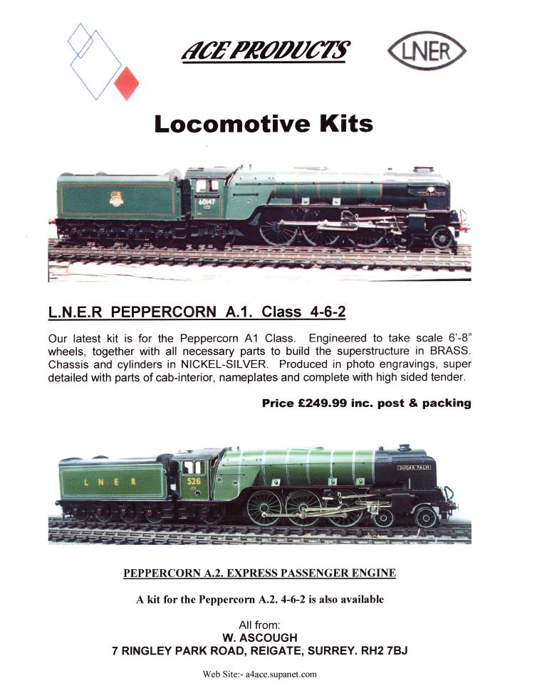 LNER peppercorn Locomotive Kits